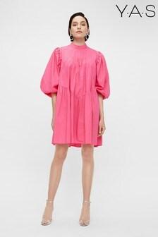 Y.A.S Oragnic Cotton Pink Poplin Salisa Dress