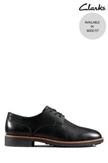 Clarks Black Griffin Lane Shoes
