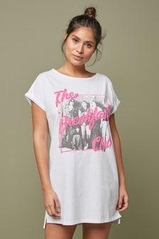 White Breakfast Club Night T-Shirt