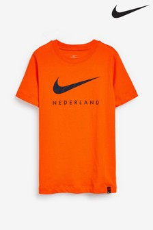 Nike Orange Netherlands Swoosh T-Shirt
