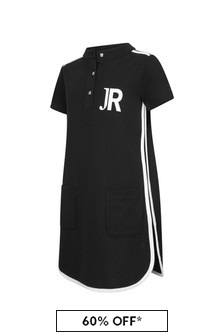 John Richmond Girls Black Cotton Dress