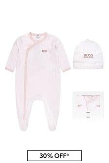 ثوب مناسب لنمو البيبي قطن وردي للبيبي للجنسين منBOSS