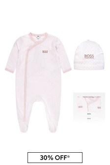 Boss Baby Unisex Pink Cotton Babygrow
