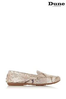 Dune London Grover Leather Saddle Detail Loafers