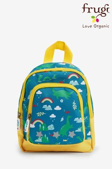 Frugi Blue Recycled Nessie Print Small Backpack