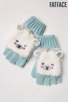 FatFace Ecru Polar Bear 2-In-1 Gloves