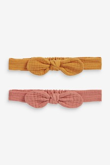 Rust 2 Pack Crinkle Headbands (Younger)