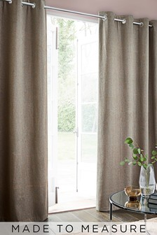 Felt Metallic Geo Natural Grey Made To Measure Curtains