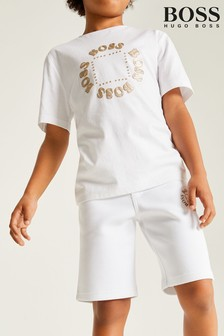 BOSS White Gold Capsule Logo T-Shirt