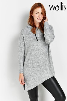 Wallis Grey Asymmetric Hoody