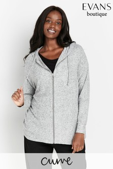Evans Curve Grey Soft Touch Hoody
