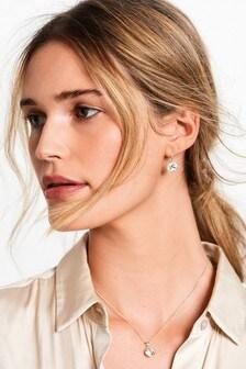 Sterling Silver Preciosa Crystal Drop Earrings