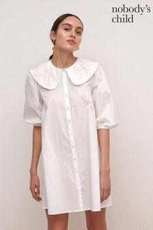 Nobody's Child White Polly Smock Dress