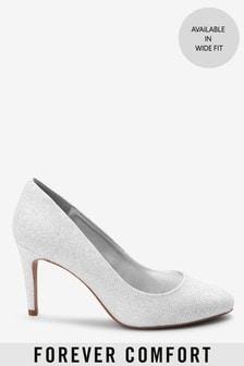 Shimmer Regular/Wide Fit Almond Toe Court Shoes