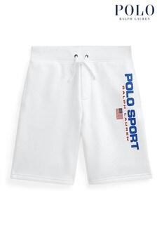 Ralph Lauren White Polo Sport Shorts