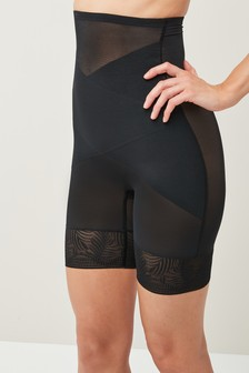 Black  Firm Control High Waist Thigh Smoother