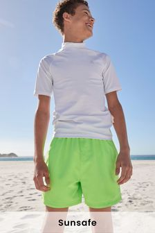 White Short Sleeve Sunsafe Rash Vest (1.5-16yrs)