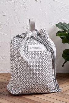 Geo Print Laundry Bag