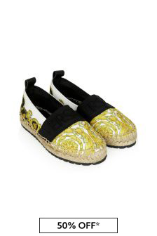 Kids Black Espadrilles