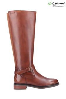 Cotswold Tan Leafield Knee High Boots
