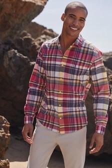 Red/Navy Check Lightweight Shirt