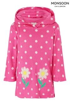 Monsoon Baby Daisy Spot Towelling Dress