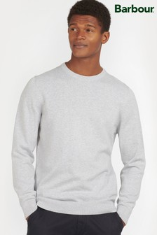 Barbour® Cream Pima Cotton Crew Neck Sweater