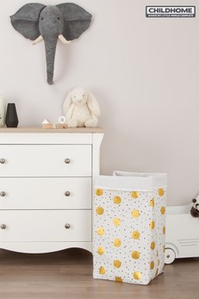 Childhome Canvas Gold Dots Storage Box