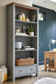 Grey  Malvern Tall Shelf Unit