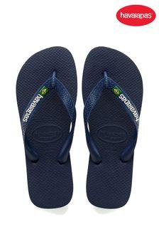 Havaianas® Kids Brasil Logo Flip Flops
