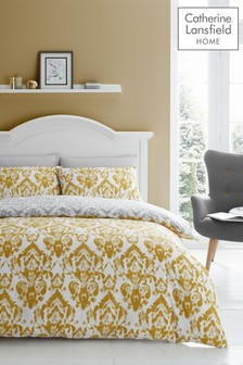 Damask Easy Care Duvet Cover and Pillowcase Set by Catherine Lansfield