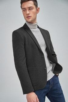 Charcoal Slim Fit Jersey Blazer