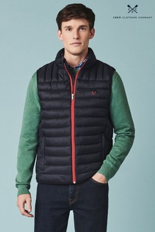 Crew Clothing Company Blue Lightweight Lowther Gilet