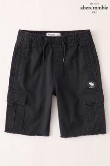 Abercrombie & Fitch Black Utility Shorts