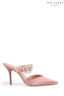 Ted Baker Pink Embellished Mules