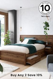 Bronx Two Drawer Storage Bed With Bedsides