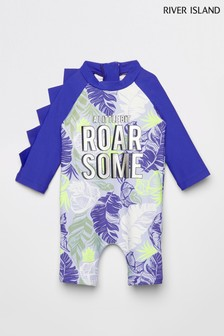 River Island Blue Roarsome Sunsafe All-In-One