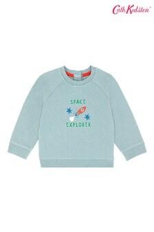Cath Kidston® Green Space Robots Baby Raglan Sweatshirt