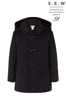 Monsoon Black S.E.W. Duffle Coat