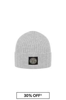 Boys Grey Beanie Hat