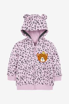 Lilac Animal Hoody Soft Touch Jersey (3mths-7yrs)