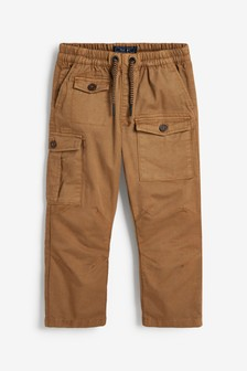 Tan Tapered Cargo Trousers (3-16yrs)
