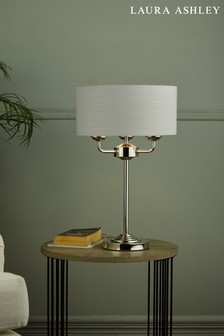 Laura Ashley Sorrento 3 Light Table Lamp With Shade