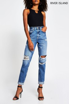 River Island Blue Denim Medium Carrie Ragusa Jeans