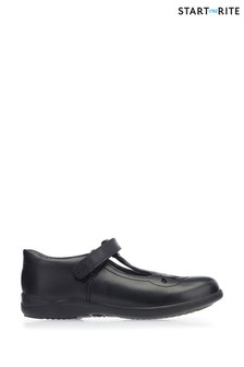 Start-Rite Poppy Black Leather Shoes
