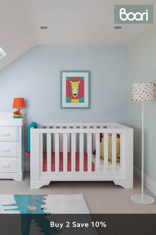 Boori Eton Expandable White Cot Bed