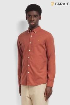 Farah Red Steen Slim Shirt