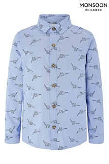 Monsoon Dino Blue Chambray Shirt