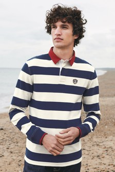 Navy/White Stripe Rugby Shirt