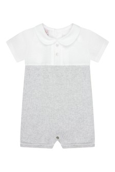 Paz Rodriguez Baby Boys Grey Cotton Shortie